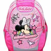תיק קל גב X-BAGמיני מאוס  MINNIE RAINBOW בצבע ורוד בהיר KAL GAV