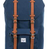תיק גב HERSCHEL הרשל LE AMERICA MID-VOLUME NAVY/TAN SYNTHETIC LEATHER